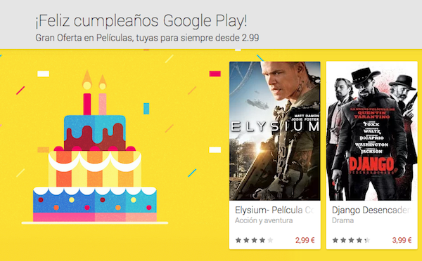 Descuentos en la Google Play por segundo aniversario