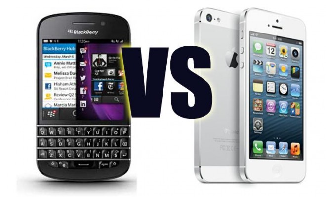 Blackberry Q10 vs iPhone 5S